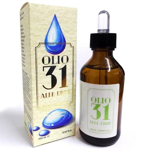 Olio 31 alle erbe ipoallergenico senza parabeni da 100ml